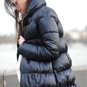 Zara shiny puffer jacket